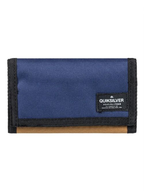 QUIKSILVER MENS WALLET.NEW EVERYWEAR TRIFOLD BLUE CARD COIN MONEY PURSE 8W 9 CPP